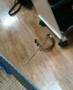 Two belts just lying in the floor? Hmmmmmm ...